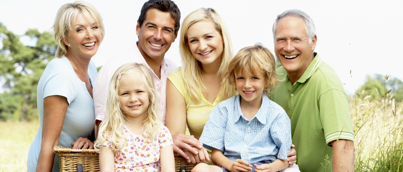 Image that represents the happy family members.