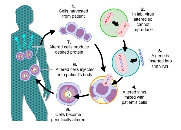 A graphical image of gene mutation used for cancer treatment with gene therapy.