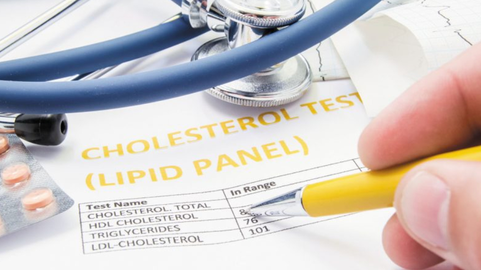 A Medical Report Showing High Cholestrol Checked By A Medical Surgeon.
